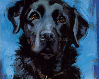 Black Lab Art Giclée Fine Art Print