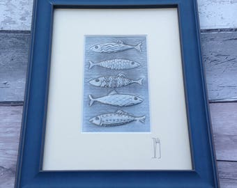 Five Little Fishes in Pewter
