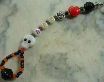 BOO Purse Charm Dangle, Halloween Backpack Charm, Keychain, Skull, Purse Charm, Halloween Jewelry, Fall, Rear View Mirror