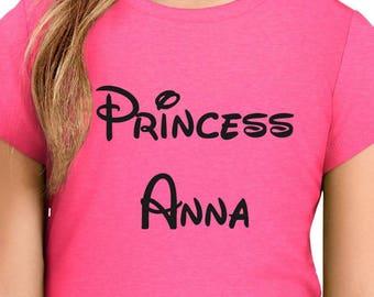 Baby - Girl - Woman Custom Princess Shirt