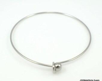 Stainless Steel Bracelet Blank, Bangle, Ready to Wear, 1.4 mm wide, Adjustable Bracelet, Charm Bracelet Blank