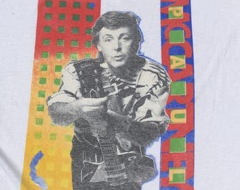 Vintage 1980s Paul McCartney Concert Tour T-Shirt Brockum XL