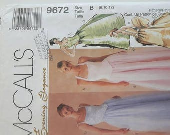 Women's Evening Gown, Ball Gown, or Prom Dress Sewing Pattern