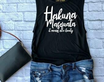 hakuna masquata - gym tank - yoga tank - funny gym shirt - cute workout tank - yoga shirt