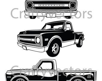 1969 Chevrolet Stepside Vector File
