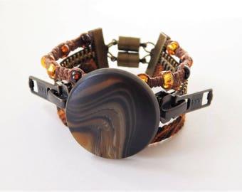Steampunk Rings of Saturn Surfer Bracelet
