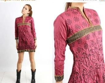 SALE Indian Dress / Oriental Dress / Nithya Is Eternal / Asian Dress / Ethnic Dress / Burgundy Dress / Medium Dress / Mini Dress