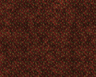 Christmas Beaded Texture Red - Moose Christmas - 684-10