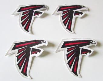 atlanta falcons no sew iron on 4 appliques