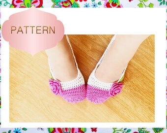 Philippa Rose Slippers Crochet Pattern