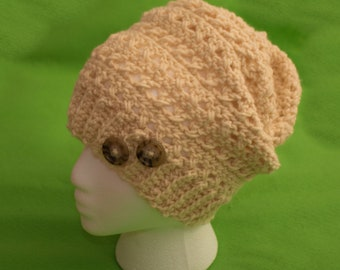 Adult crocheted slouch hat