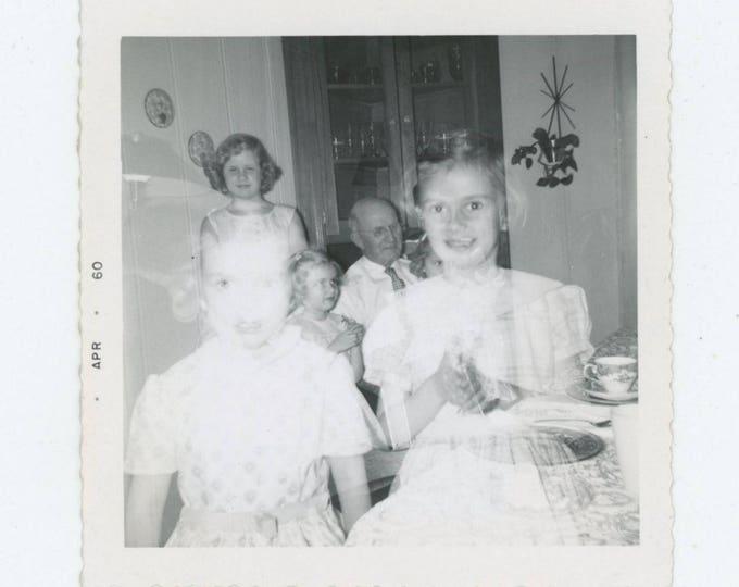 Double Exposure, 1960: Vintage Snapshot Photo (81637]
