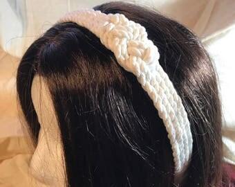 Limited Edition white gossip girl inspired nautical rope headband