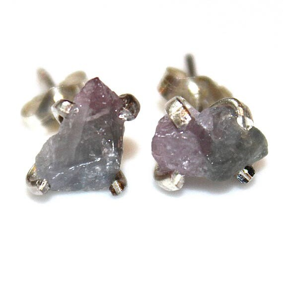 Bi-Color Tourmaline Stud Earrings