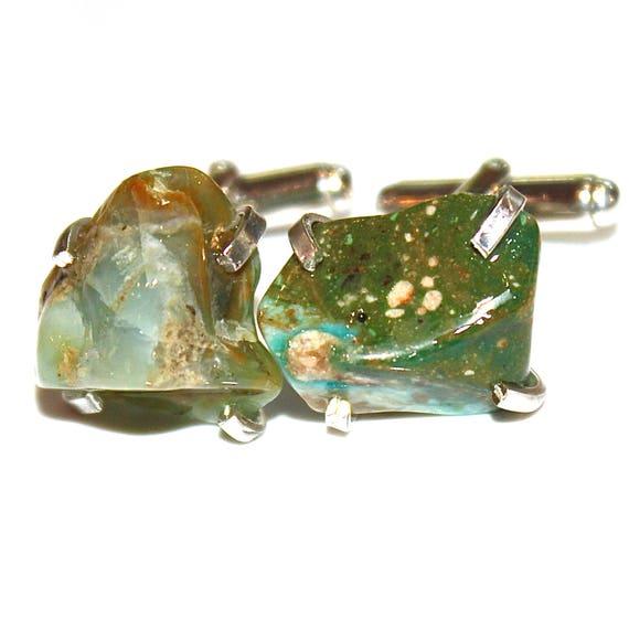 Rustic Peruvian Opal Cuff Link