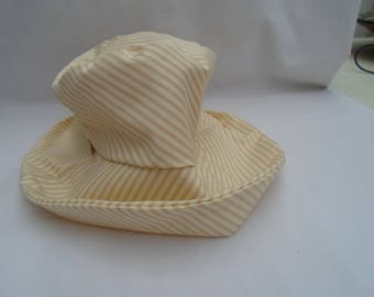 Coffee and cream cotton hat