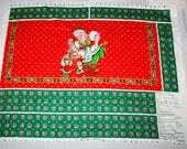 Mrs Claus Christmas Hostess Red Half Apron with Ruffle Fabric Panel Cheryl Ann Johnson You Sew Free USA Shipping
