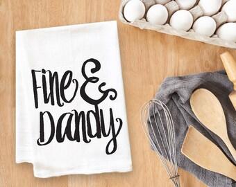 Fine and Dandy Tea Towel Flour Sack Towel Kitchen Towel