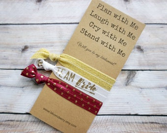 Gold/White/Red Wine  Bridesmaid Gift 3 pcs gift set - Plan with Me, Laugh With Me, Cry with Me- Bachelorette Party/Wedding/Bridesmaid GIft