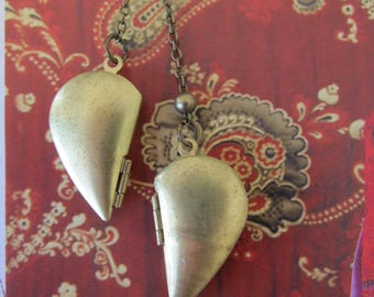 Locket Necklace Double heart