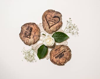 150 Wedding Favours - Driftwood - Wood Coasters - Engraved - Wood Slice - Sustainable Gift - Eco Houseware