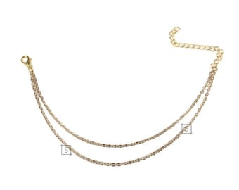 Two Chain Anklet