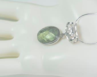yellow flash labradorite gemstone jewelry, labradorite bead necklace, faceted labradorite necklace, labradorite stone necklace