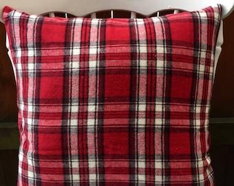 Red Plaid Flannel Pillowcase