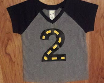 Construction Number 2 Shirt, Birthday Shirt, Number 2, Boy Shirt, 2nd Birthday Boy Shirt, Construction Birthday Theme