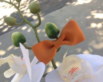 Vintage Orange Bow Hair Clip