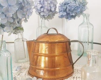 Vintage copper teapot kettle