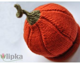 Children - Hat wool Pumpkin orange for child