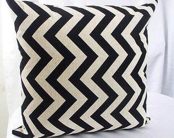 Dark brown and tan pillow,  Chevron pillow cover ,Chevron pillow, Black chevron throw, Dark brown pillows, Chevron couch, cushions covers