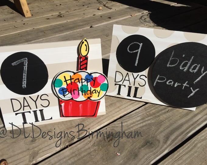 Countdown days til frame christmas or birthday countdown