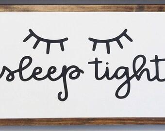 "13""x24"" | sleep tight - Framed Wood Sign"