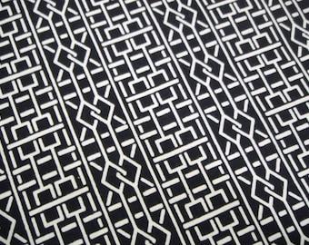 Geometric Vintage Japanese indigo cotton kimono fabric
