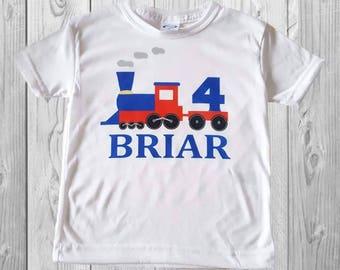 Train themed birthday shirt/custom/personalized