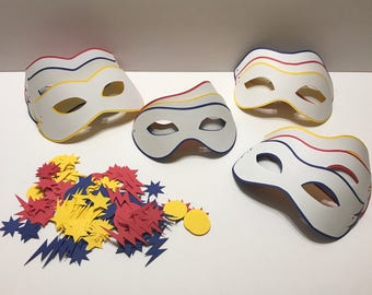Superhero Mask Party Favor Birthday Party Supply Birthday Craft