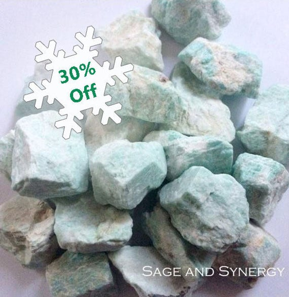 Light Aqua, Raw Amazonite, Rough Amazonite, Crystal, Mineral, Rough Stone, Meditation, Crystal Healing, Altar Stone