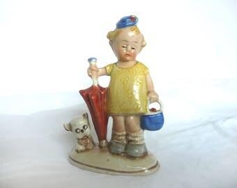 1930s figurine - antique child figurine - 1930s child figurine - 1930s porcelain figurine - made in Japan ceramic figurine