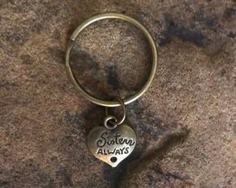 Bronze Sisters Always Small Keychain