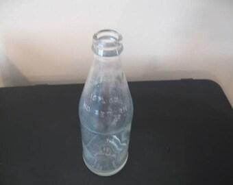 """Vintage Clear Glass Anchor Hocking Soda Bottle,  """"No Deposit, No Return"""" 10 Fl. Oz. Bottle"""