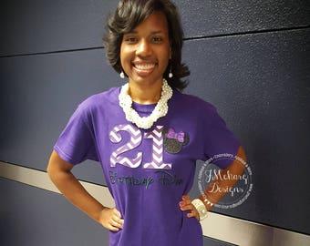 Disney-Inspired Birthday Shirt - 16th - 21st - 40th - 50th - 60th - Custom Birthday Tee 830 purple