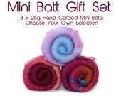 Mini Batt Gift Set - 3 x 25g - hand carded - custom built