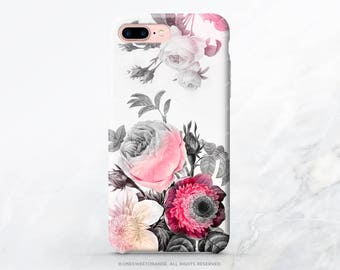iPhone 7 Case Vintage Roses iPhone 7 Plus Case iPhone SE Case iPhone 6 Case Tough iPhone 7 Case Samsung S8 Plus Case Galaxy S8 Case T51d