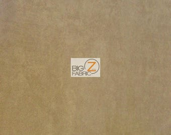 """Microfiber Suede Upholstery Fabric - CAMEL - 58"""" Width Sold By The Yard Passion Suede Microsuede"""
