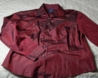 A 100% Silk Blouse by Ann Taylor in Size 12