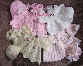 4 Crochet Patterns for Prem Babies, Reborn Doll, Reborn Baby PDF Pattern No.0061