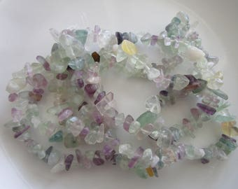 34 inch strand chip multi gemstones - mixed chip beads - 0.25 inches - jewelry bead supplies - chip bead supplies - gemstone multi mix beads