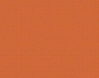 Orange Quilt Fabric Riley Blake Shriek Dot Orange Halloween Fabric by Carina Gardner Orange Polka Dot Fabric Halloween Quilt Fabric